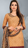 Beige Color Shaded Crepe Patiala Dress