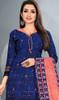 Navy Blue Color Crepe Punjabi Suit