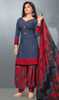 Gray Color Shaded Crepe Punjabi Dress