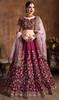 Maroon Color Raw Silk Embroidered Choli Skirt