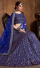 Lahenga Choli in Royal Blue Color Shaded Raw Silk