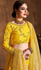 Lehenga Choli in Yellow Color Embroidered Silk