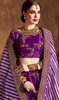 Choli Skirt in Purple Color Embroidered Silk