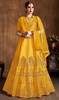 Yellow Color Embroidered Art Silk Lahenga Choli
