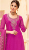 Palazzo Dress, Crepe Fabric in Pink Color Shaded