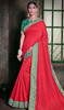 Red Color Silk Embroidered Sari
