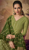 Palazzo Suit in Green Color Shaded Viscose
