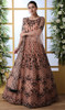 Embroidered Peach Color Net Anarkali Suit