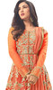 Orange Color Embroidered Net Anarkali Dress