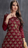 Palazzo Suit in Maroon Color Embroidered Georgette and Satin