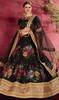 Black Color Silk Embroidered Choli Skirt