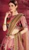 Peach Color Embroidered Silk Lahenga Choli