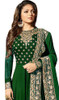 Georgette Embroidered Anarkali Suit in Green Color