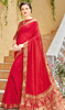 Red Color Shaded Silk Sari