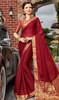 Maroon Color Shaded Silk Saree