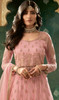 Net Embroidered Designer Suit in Pink Color