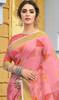 Linen Light Pink Color Shaded Printed Sari