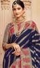 Silk Navy Blue Color Shaded Sari