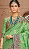 Light Green color Shaded Silk Sari