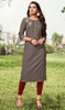 Rayon Embroidered Tunic in Dark Gray Color