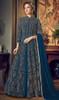 Net Embroidered Anarkali Suit in Teal Blue Color