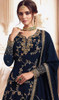 Georgette Embroidered Designer Lehenga Suit in Teal Blue Color