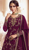 Georgette Embroidered Designer Lehenga Suit in Purple Color