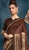 Lycra Brown Color Embroidered Sari