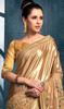 Gold Color Lycra Embroidered Saree