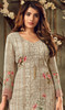 Georgette Embroidered Palazzo Suit in Beige Color