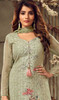 Sea Green Color Georgette Embroidered Palazzo Suit