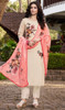 Off White Color Soft Silk Printed Pant Style Suit
