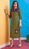 Rayon Mehendi Green Color Facny Embroidered Kurti