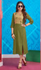 Mehendi Green Color Rayon Embroidered Kurti