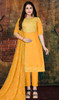 Modal Turmeric Yellow Color Pant Style Dress