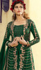 Georgette Embroidered Designer Palazzo Suit in Green Color