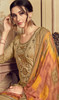 Jam Cotton Embroidered Patiala Suit in Beige Color