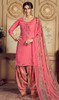 Jam Cotton Embroidered Patiala Suit in Dusty Pink Color