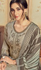 Jam Cotton Embroidered Patiala Suit in Gray Color