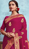 Silk Embroidered Saree in Dark Pink Color
