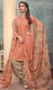 Cotton Printed Peach Color Punjabi Dress
