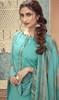 Cotton Printed Sky Blue Color Punjabi Suit