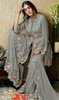 Georgette Gray Color Embroidered Palazzo Suit