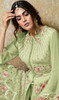 Georgette Sea Green Color Embroidered Palazzo Suit
