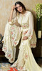 Georgette Cream Color Embroidered Palazzo Suit