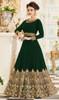 Georgette Mehendi Green Color Embroidered Anarkali Dress