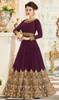 Georgette Magenta Color Embroidered Anarkali Dress