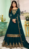 Shamita Shetty Georgette Embroidered Lehenga Dress in Dark Firozi Color