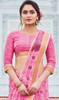Neon Pink Color Printed Cotton Saree