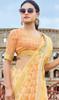Light Orange Color Printed Cotton Saree